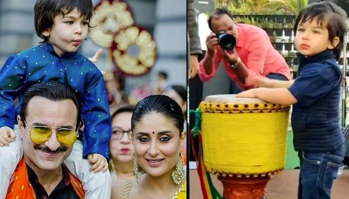 Taimur Ali Khan Engrossed In Colouring Book And Passionately Playing Drums Prove He Is A Born Artist