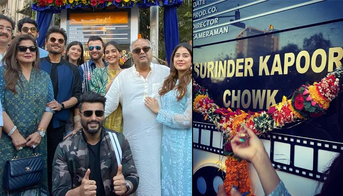 Sonam, Arjun, Janhvi And Other Kapoors Come Together To Unveil A Chowk Named After Surinder Kapoor