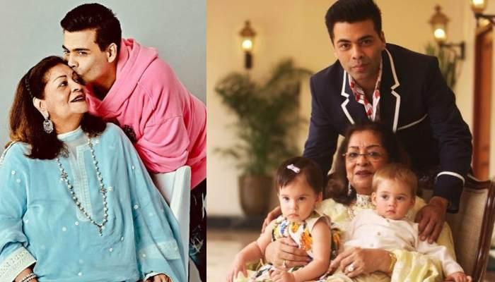 Karan Johar Pens An Emotional Note For Mother Hiroo Johar For Co-Parenting His Twins, Yash And Roohi