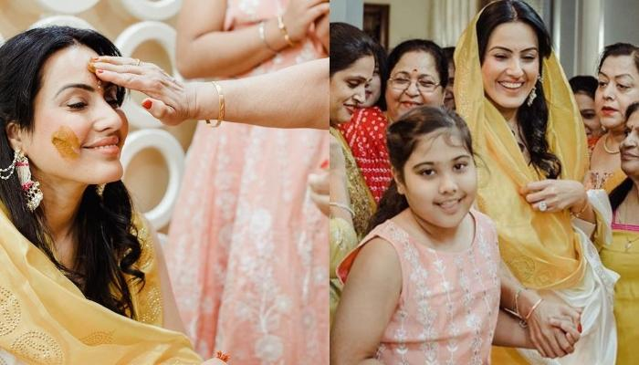 Kamya Panjabi's 10-Year-Old Daughter, Aara Looks Happiest At Her Mother's Haldi Ceremony