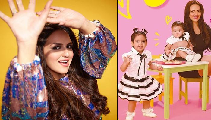 Esha Deol Announces 'Good News' With A Picture Of Daughters, Radhya And Miraya As They Twin In White