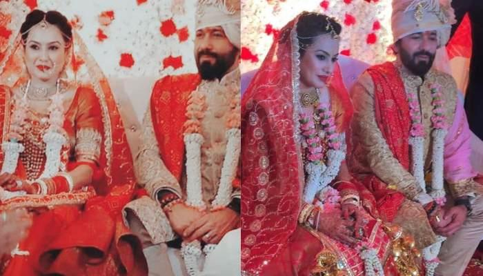 Kamya Panjabi And Shalabh Dang Hold Hands As They Take 'Saat Phere', Wedding Pics And Videos Inside