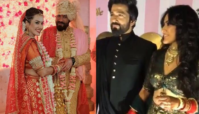 Kamya Panjabi Twins With Husband, Shalabh Dang At Their Wedding Reception, Flaunts Her Chooda