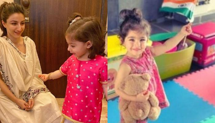 Soha Ali Khan's Daughter Inaaya Naumi Kemmu Aiming To Reach Her Balloons Proves That Sky's The Limit
