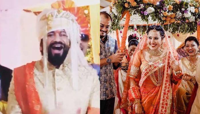 Shalabh Dang Surprises His Bride, Kamya Panjabi By Singing 'Tenu Leke' As She Walks Down The Aisle