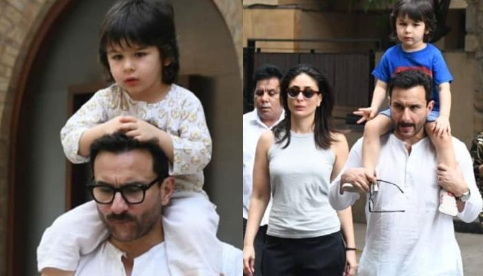 Taimur Ali Khan Goes Out On A Casual Outing With Saif Ali Khan And Kareena Kapoor Khan