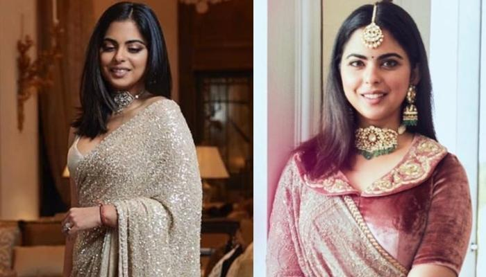 Isha Ambani Looks Regal In A 'Velvet Rose' Lehenga From Sabyasachi Mukherjee's Collection