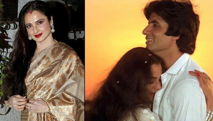 Rekha Gives A Hilariously Reply When Asked To Pose Next To Amitabh Bachchan's Portrait At An Event