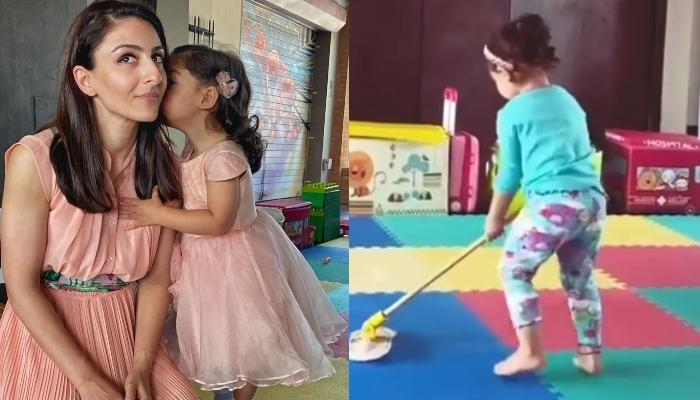 Inaaya Naumi Kemmu Looks Adorable As She Helps Mommy, Soha Ali Khan Clean The House, Video Inside