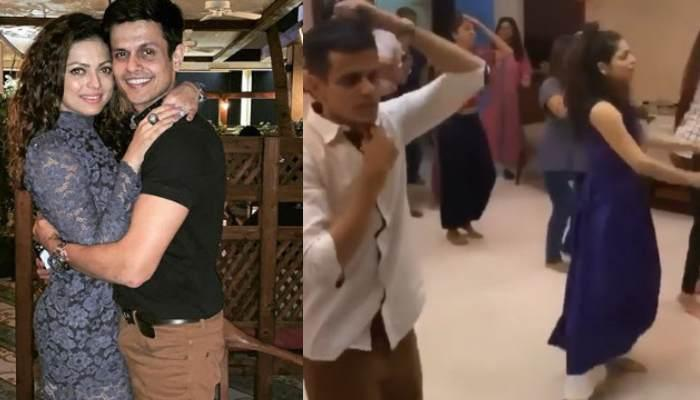 Drashti Dhami Grooves On 'Chunari Chunari' With Hubby, Niraj Khemka For Her Nanad's Sangeet Ceremony