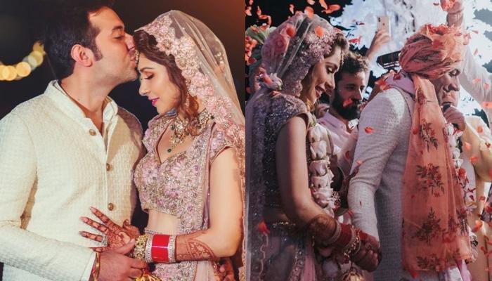 Designer, Sonaakshi Raaj Gets Married To Nikhil Merani, Looks Gorgeous In A Unique Pink Lehenga
