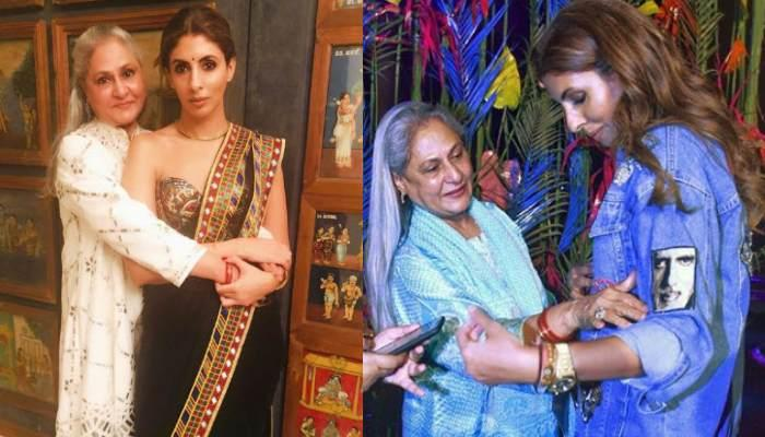 Jaya Bachchan Hugs Daughter, Shweta Bachchan As She Sports Amitabh Bachchan's Pic On Her Jacket