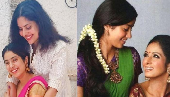 Janhvi Kapoor Dons A Traditional Saree At Sridevi's Prayer Meet In Chennai, Reminds Us Of Her Mom