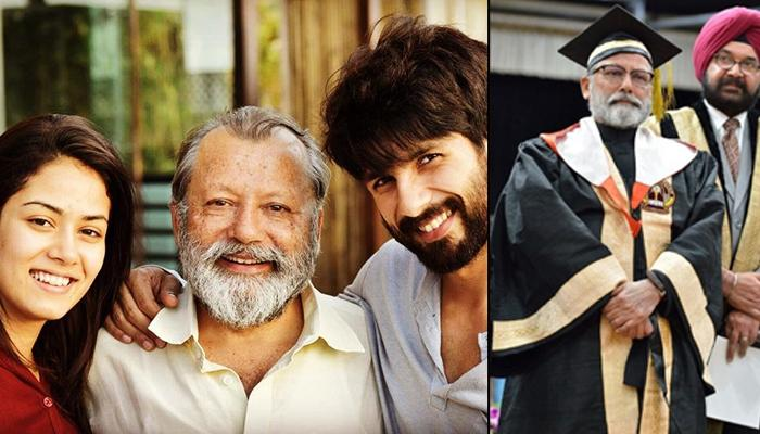 Shahid Kapoor And Mira Kapoor Proudly Congratulate Dad Pankaj Kapur For Receiving A Doctorate Degree