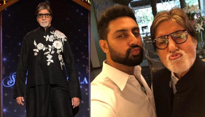 Amitabh Bachchan Looks Dapper As He Twins With Son, Abhishek Bachchan In Red, Calls Him 'Chote Miya'