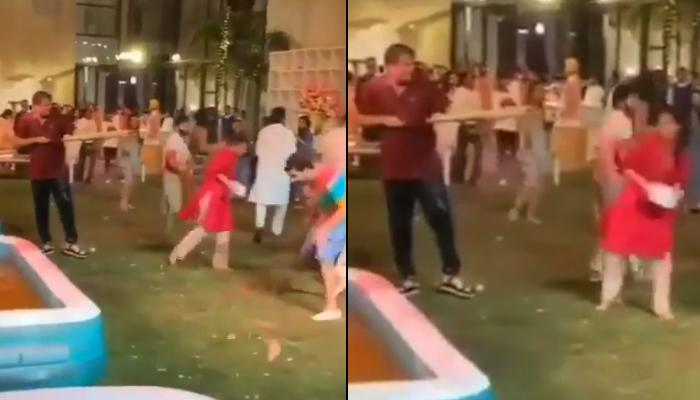 Radhika Merchant Drenches Anand Piramal In Water At Isha Ambani's Pre-Holi 2020 Party, Video Inside