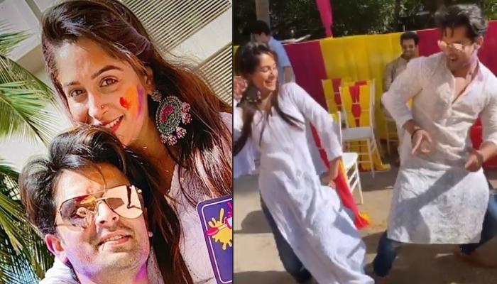 Dipika Kakar Dances With Husband, Shoaib Ibrahim On 'Balam Pichkari' As They Celebrate Holi