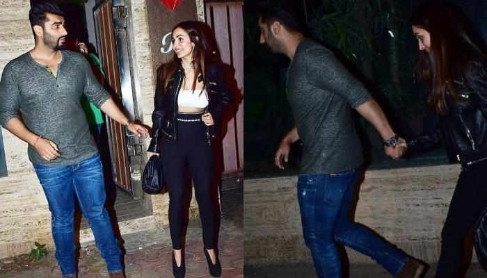 Arjun Kapoor Escorts Malaika Arora To The Car By Holding Her Hand As They Exit From A Friend's Party