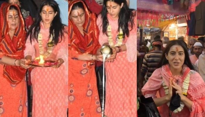 Sara Ali Khan And Amrita Singh Perform Benaras Ki Aarti, Is Back With Her 'Namaste Darshako' Series