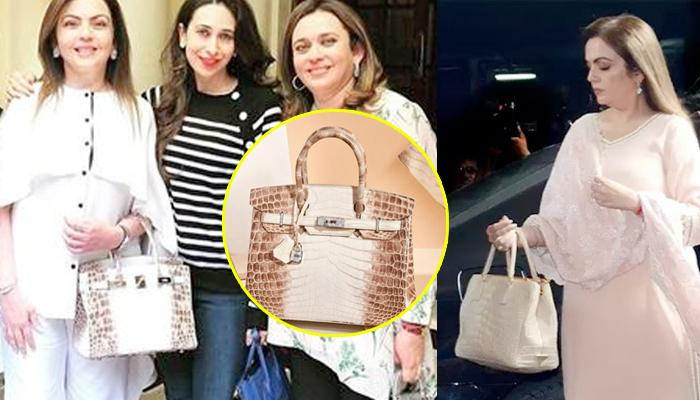 Nita Ambani's Rare Hermes Birkin Handbag Is Laced With 18k White Gold And Diamond Hardware