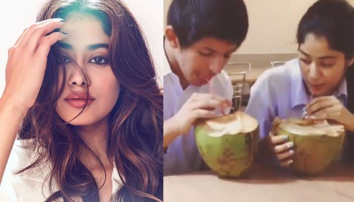 Janhvi Kapoor Looks Adorable In Her School Dress As She Sips Coconut Water In This Throwback Video