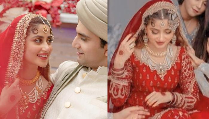 Sajal Ali Of 'Mom' Fame Ties The Knot With Ahad Raza Mir, Looks Gorgeous In A Red 'DulhanKa Joda'