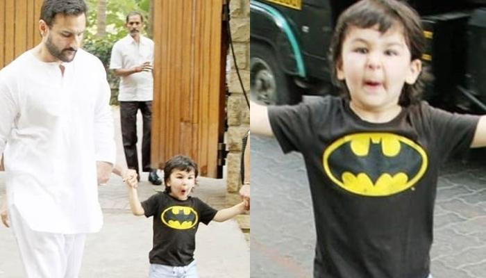 Taimur Ali Khan Looks Adorably Cute As He Makes Weird Faces At His Paparazzi Friends