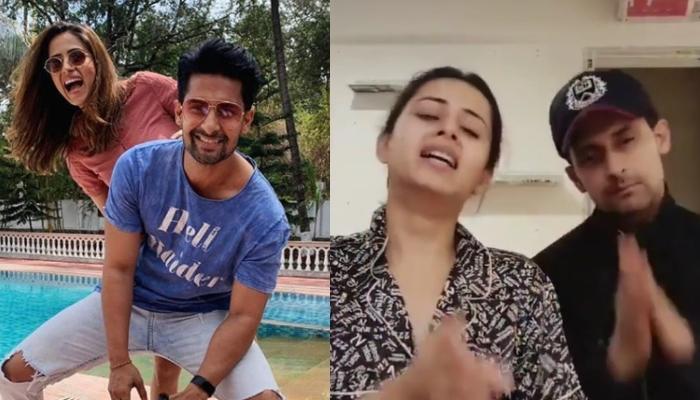 Sargun Mehta And Ravi Dubey's 'Bhajan' 'Corona Virus Wapas Jao' Amidst COVID Is Completely Hilarious