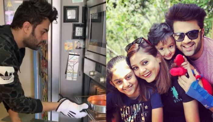 Maniesh Paul Bakes A Cake For His Wife, Sanyukta Paul And Kids During The Self-Quarantine
