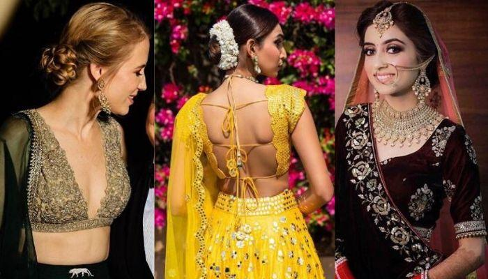 Gorgeous Brides Who Rocked Their Wedding Outfit With Pretty Blouse Designs