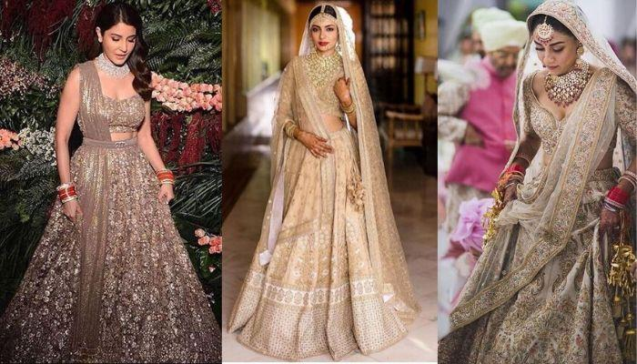 Celebrities And Real Brides, Who Ditched Red And Chose Shades Of Gold For Their Wedding 'Lehenga'