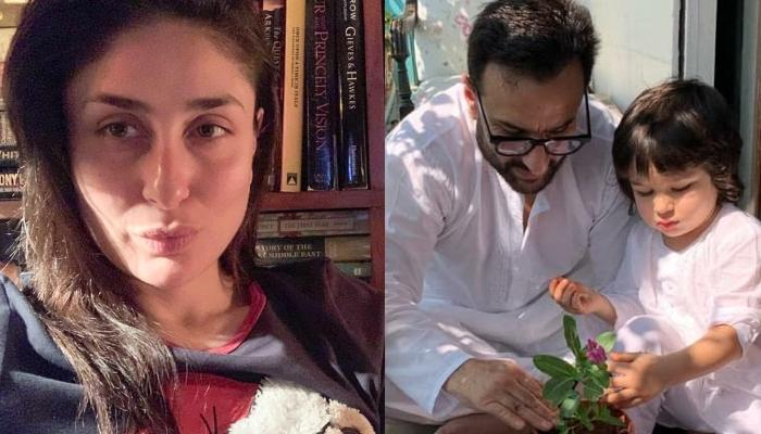 Taimur Ali Khan Helps Daddy, Saif Ali Khan In Gardening, Mommy, Kareena Clicks Their Candid Pictures