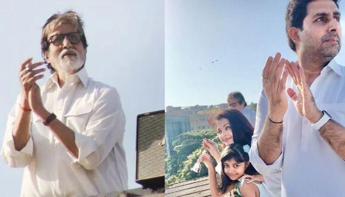 Amitabh Bachchan, Aishwarya Rai Bachchan And Family Came Out To Thank Coronavirus Heroes