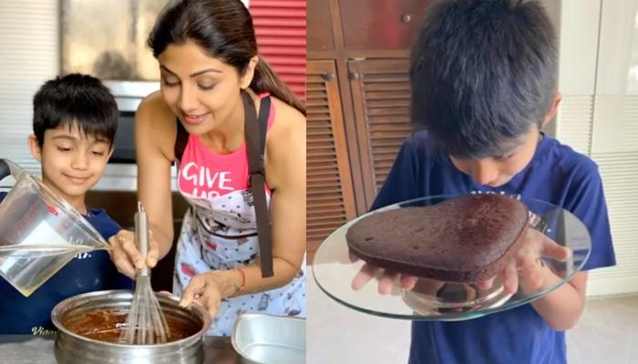 Shilpa Shetty Kundra Bakes The Yummiest Heart-Shaped Cake With Her Son, Viaan Raj Kundra