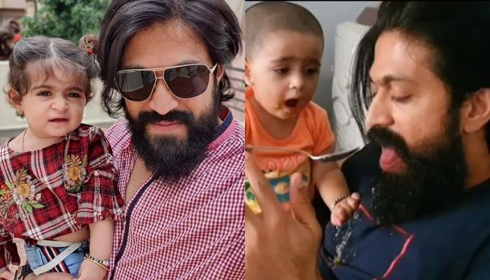 K.G.F Star, Yash's Daughter, Arya Does The Role Reversal And Feeds Food To Her Daddy Amidst Lockdown