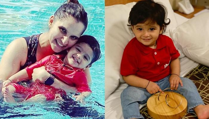Izhaan Mirza Malik Looks Adorable As He Reveals Who Is 'Amma', Sania Mirza's Cupcake