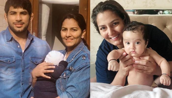 Geeta Phogat Shares Her Son, Arjun Saroha's Favourite Feeding Position As He Turns Three-Month-Old