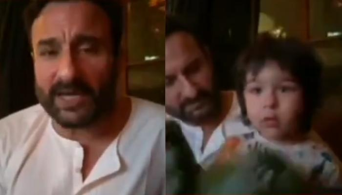 Taimur Ali Khan Steals Daddy, Saif Ali Khan's Live TV Interview, Looks Adorable In A Hulk Mask