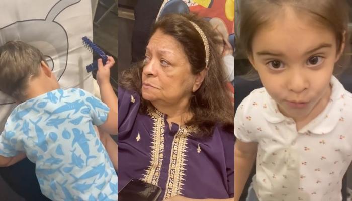 Karan Johar's Son, Yash Johar Is Sulking From Dadi, Hiroo Johar As Roohi Johar Goofs Around Them