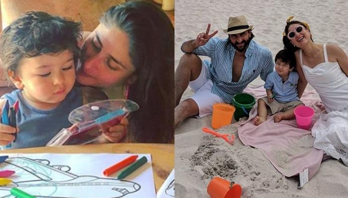 Kareena Kapoor Khan's 'In-House Picasso', Taimur Ali Khan Paints A Picture Of Their Day On The Beach