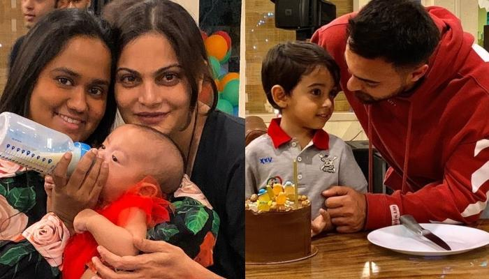 Ahil Sharma Celebrates His 4th Birthday With Baby Sister Ayat Sharma, Feeds Cake To Mamu Salman Khan