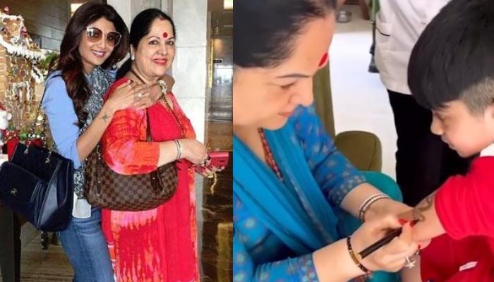 Shilpa Shetty Kundra Shares Video Of Mom, Sunanda Shetty Tattooing 'Krishna' On Son, Viaan's Biceps