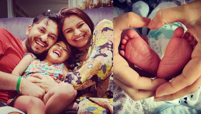 Dimpy Ganguly Shares The First-Ever Picture Of Her Newborn Baby Boy, As Big Sister Reanna Adores Him