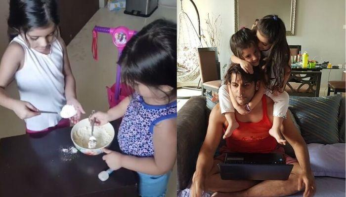 Karanvir Bohra's Twin Daughters, Bella And Vienna Make Pancakes For Their 'Dada'