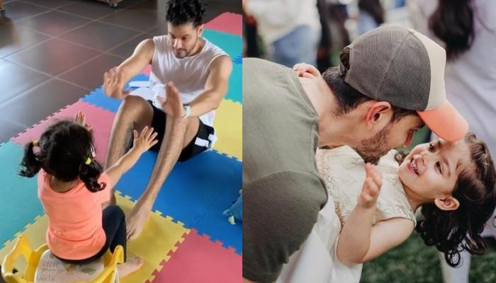 Inaaya Naumi Kemmu Motivates Daddy Kunal Kemmu To Do Crunches, Becomes The 'Best' And Cutest Trainer