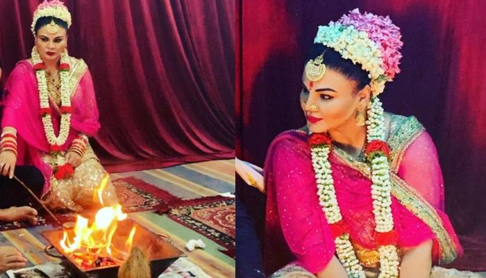 Rakhi Sawant Shares Unseen Wedding Pictures But Cropped Her Husband, Riteish, Fans React Hilariously