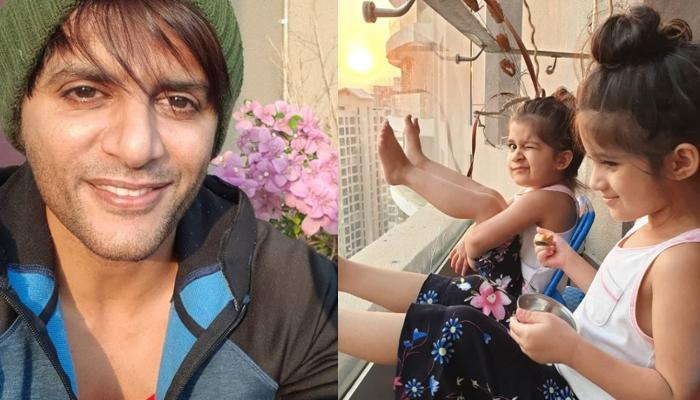 Karanvir Bohra Receives Parlour Treatment From His Twins, Bella And Vienna, Gets His Nails Painted