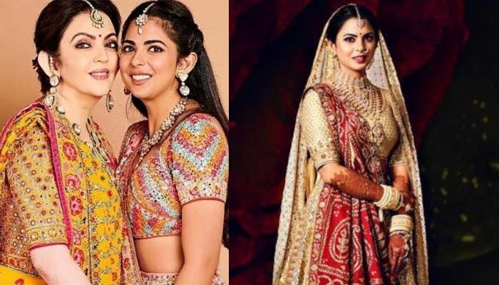 Nita Ambani And Isha Ambani's Resemblance In Their Bridal Looks Prove 'Like Mother, Like Daughter'