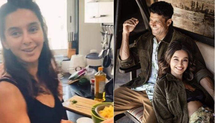 Farhan Akhtar Films Girlfriend, Shibani Dandekar's Cooking, Her Blingy Ring Stole All The Attention