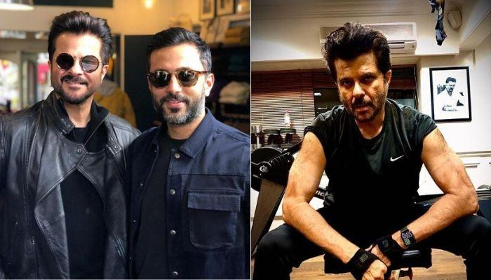 Anil Kapoor Reveals His Fitness Mantra By Flaunting Biceps, Son-In-Law, Anand Ahuja Agrees With Him